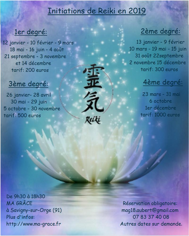 Dates des formations  REIKI